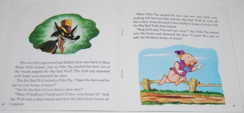 Disney book & cassette 3 little pigs 4