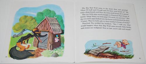 Disney book & cassette 3 little pigs 5