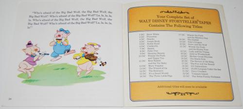 Disney book & cassette 3 little pigs 6