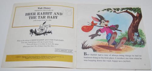 Disney brer rabbit book cassette x