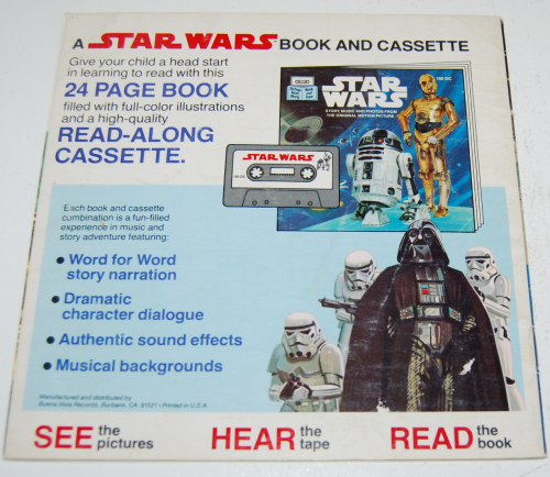 Star wars book & tape x