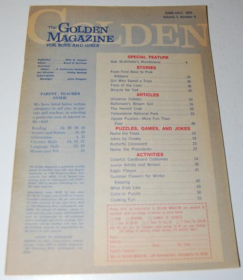 Golden magazine june july 1970