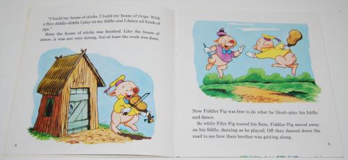 Disney book & cassette 3 little pigs 2