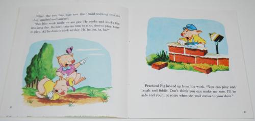 Disney book & cassette 3 little pigs 3