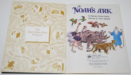 Little golden book noah's ark x