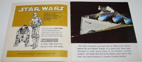 Star wars book & tape 8