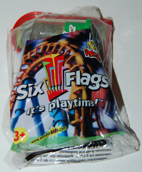 Wendy's kids meal 6 flags prize