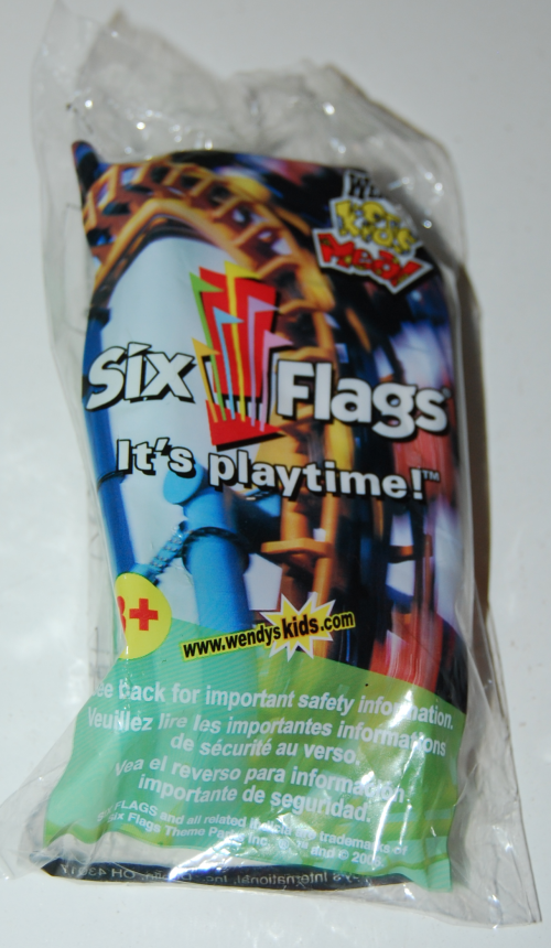 Wendy's kids meal 6 flags toy