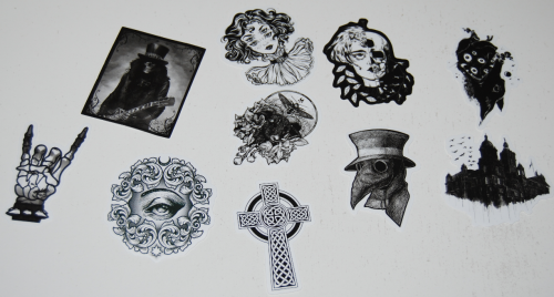 Goth stickers 1