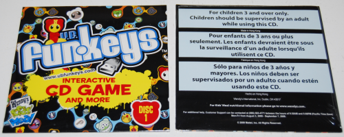 Wendy's kids meal ub funkeys cd