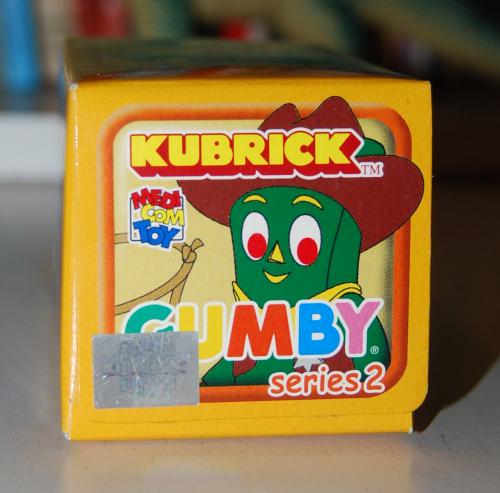 Gumby kubrick 2 box top