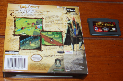 Lord of the rings gameboy advance