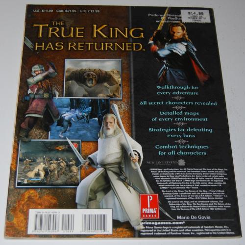 Lotr prima return of the king guide x