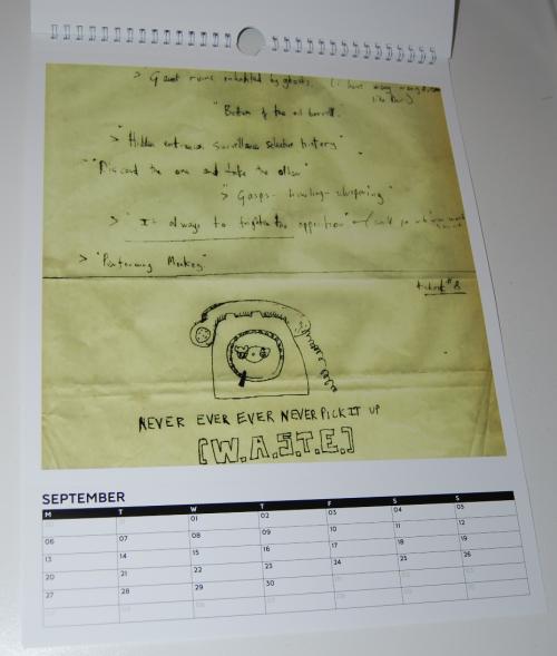 Radiohead calendar 3