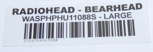 Radiohead hoodie tag