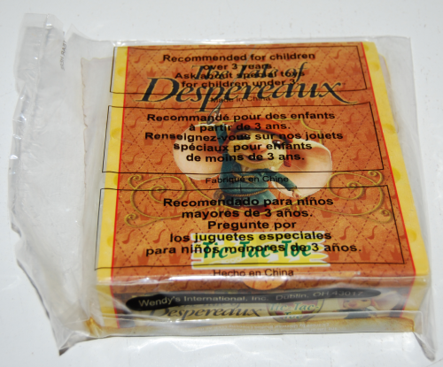 Wendy's kids meal despereaux prize