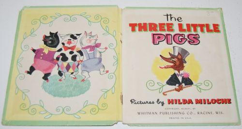 3 little pigs book vintage 1