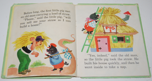 3 little pigs book vintage 2