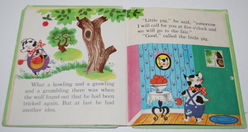 3 little pigs book vintage 4