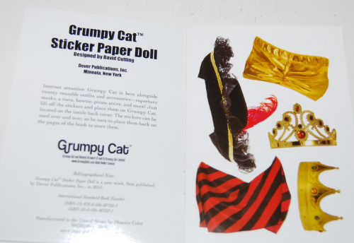 Grumpy cat sticker paperdoll book 1