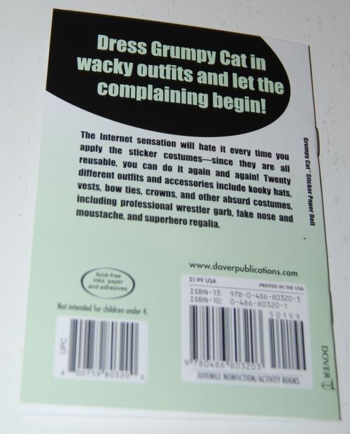 Grumpy cat sticker paperdoll book x