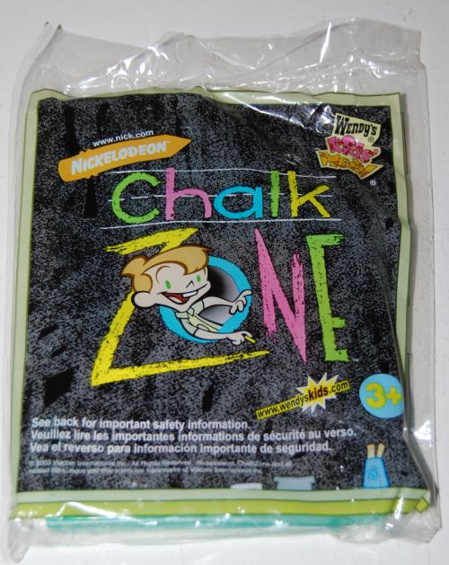 Wendy's kids meal chalk zone