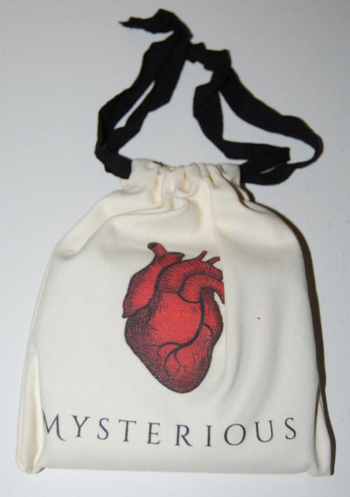 Mysterious jabberwock heart pouch