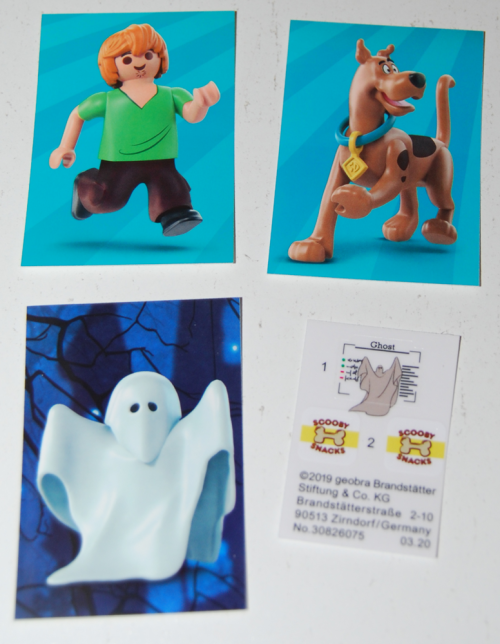 Playmobil scooby doo ghost toy stickers