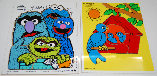 Vintage playskool puzzles