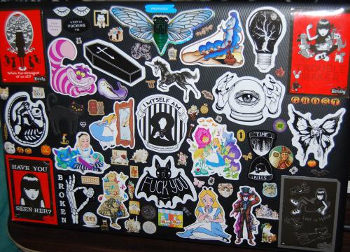 Laptop sticker redo x