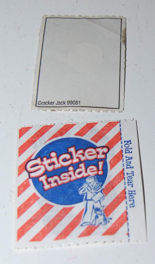Cracker jacks sticker