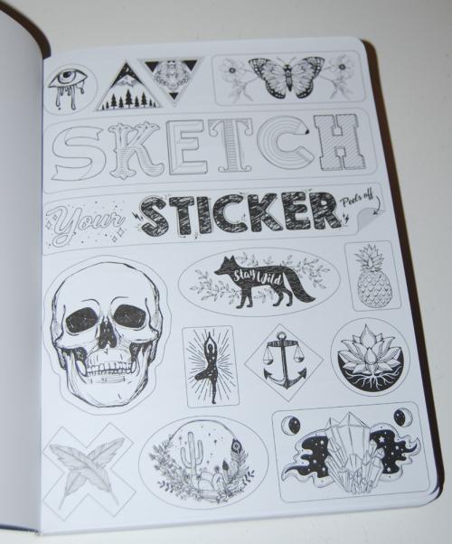 Sticker sketch book goth