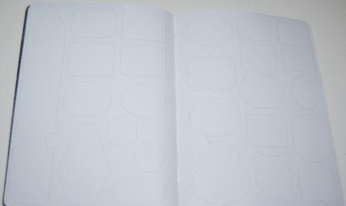 Sticker sketch book xx
