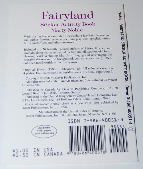 Fairyland sticker activity book x