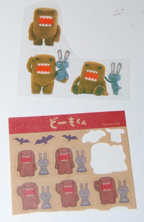 Domokun mini stickers