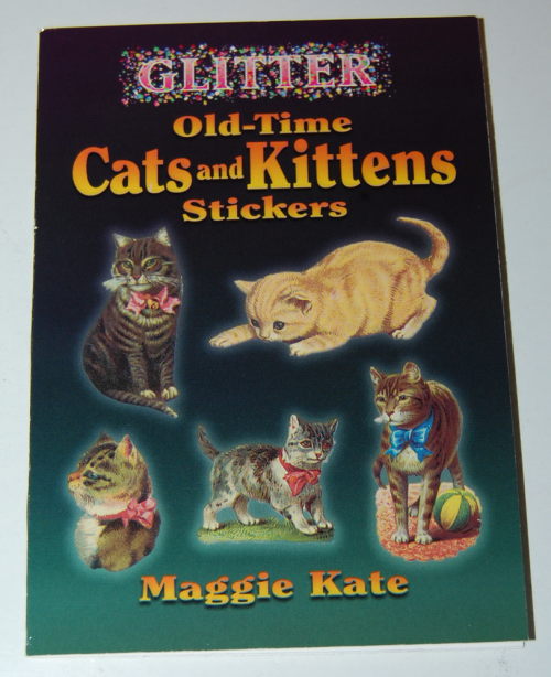 Old time cats & kittens glitter stickers book