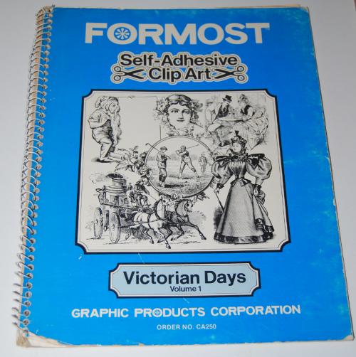 Victorian days clip art stickers