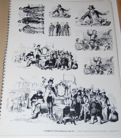 Victorian days clip art stickers 6