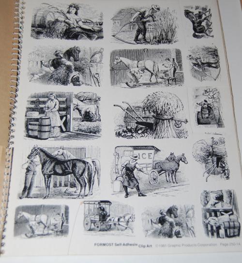 Victorian days clip art stickers 8