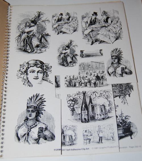 Victorian days clip art stickers 9