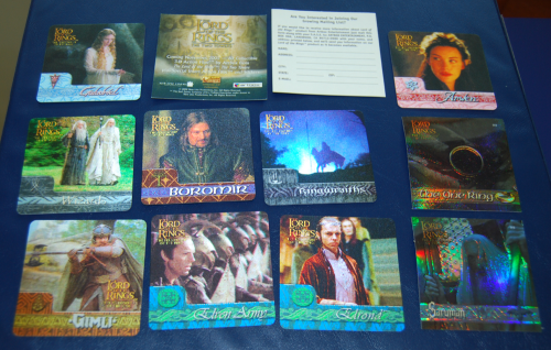 Lord of the rings lenticular cards