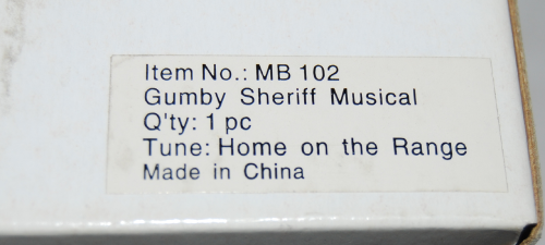 Gumby sheriff musical