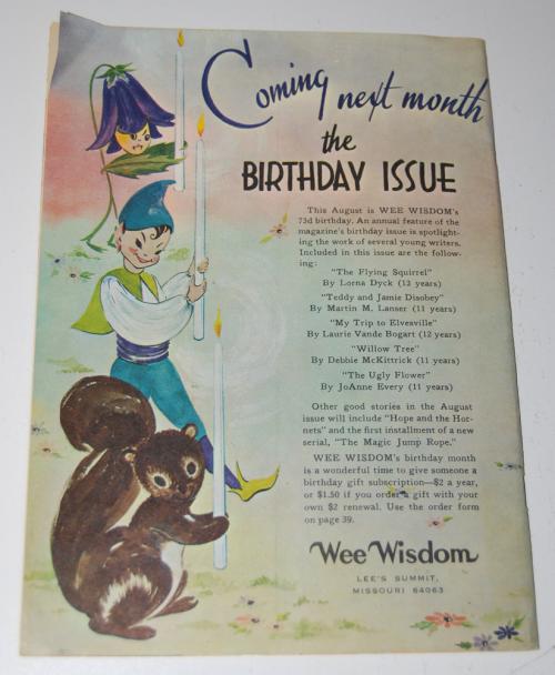 Wee wisdom july 1966 mag