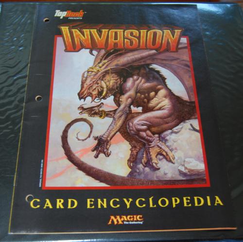 Magic the gathering top deck invasion card encyclopedia