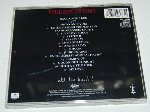 Paul mccartney cd x