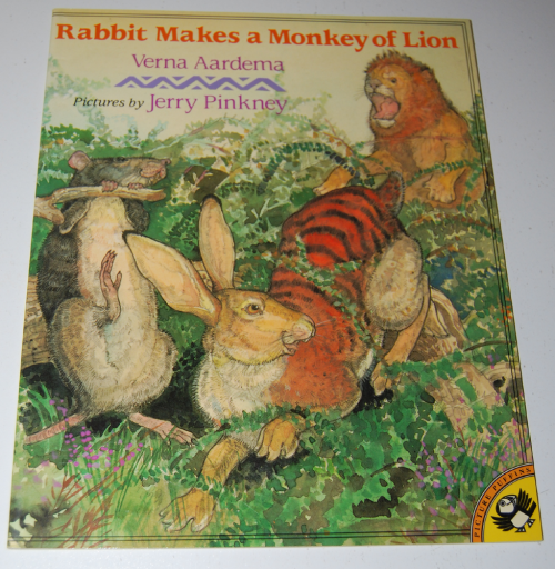 Rabbit makes a monkey of lion
