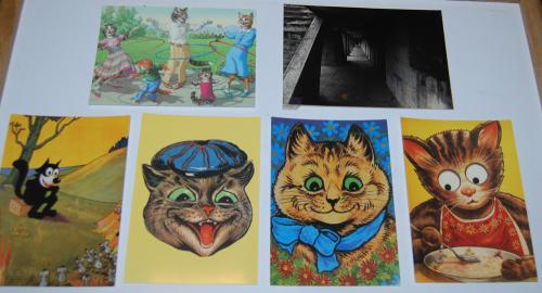 Postcards vintage cats
