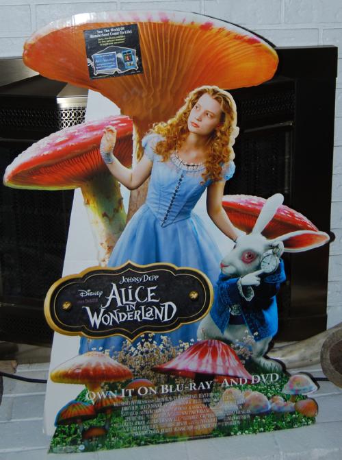Disney alice in wonderland display