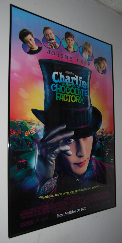 Johnny depp charlie & the chocolate factory poster