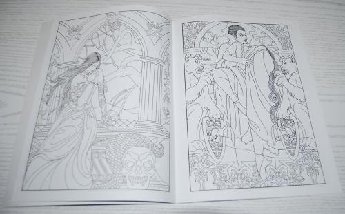 Dover vampires coloring book 3